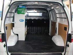 03_Toyota HiAce with Van Racking Rear view